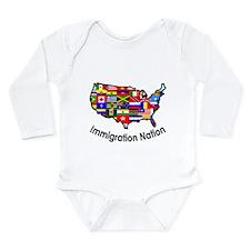 Funny Latino Long Sleeve Infant Bodysuit