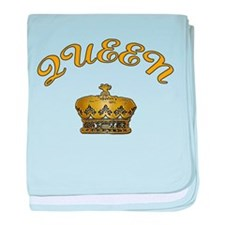 Queen with Crown baby blanket