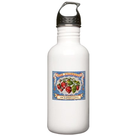 Fresh Strawberries Label Stainless Water Bottle 1.