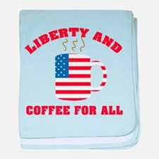 Liberty & Coffee For All baby blanket