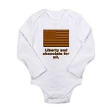 Liberty & Chocolate Long Sleeve Infant Bodysuit