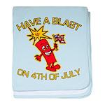 Happy Firecracker baby blanket