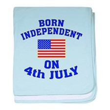 July 4 Born Independent baby blanket