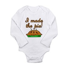 I Made the Pie Long Sleeve Infant Bodysuit