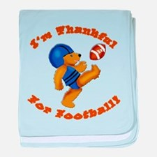 I'm Thankful for Football baby blanket