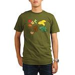 Autumn Leaves Organic Men's T-Shirt (dark)