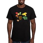 Autumn Leaves Men's Fitted T-Shirt (dark)