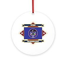 Utah Flag Ornament (Round)