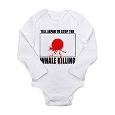 Japan Stop Whale Killing Long Sleeve Infant Bodysu