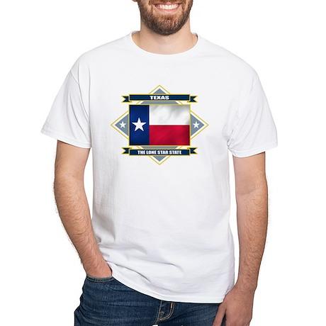 Texas Flag White T-Shirt