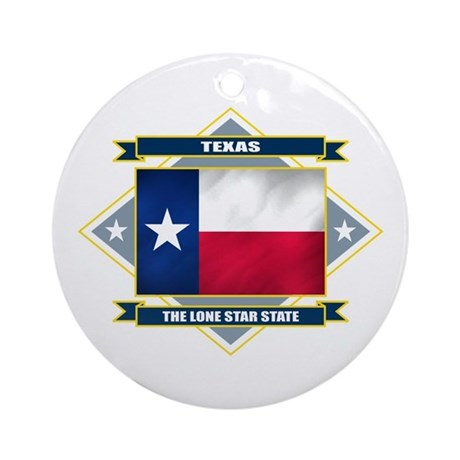 Texas Flag Ornament (Round)