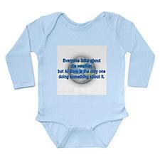 Cute Global weather change Long Sleeve Infant Bodysuit