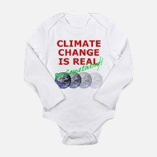 Cute Global warming Long Sleeve Infant Bodysuit