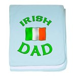 Father's Day Irish Dad baby blanket