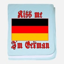 Kiss Me I'm German baby blanket