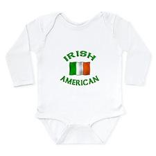 Irish American w/Irish flag Long Sleeve Infant Bod