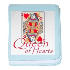 Queen of Hearts playing card baby blanket