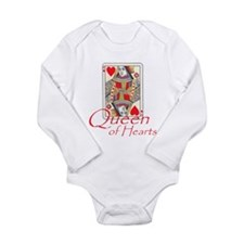 Queen of Hearts playing card Onesie Romper Suit