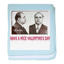 Al Capone Have a Nice Valenti baby blanket