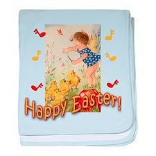 Musical Happy Easter baby blanket