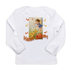 Musical Happy Easter Long Sleeve Infant T-Shirt
