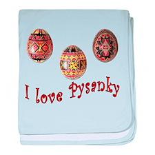I Love Pysanky baby blanket