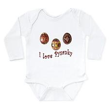 I Love Pysanky Long Sleeve Infant Bodysuit