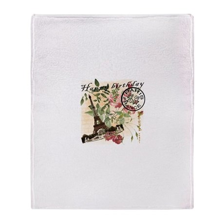 Vintage French Chic Throw Blanket