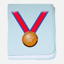 Visualize Winning Gold baby blanket