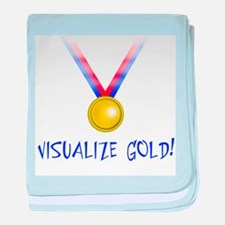 Visualize Gold baby blanket
