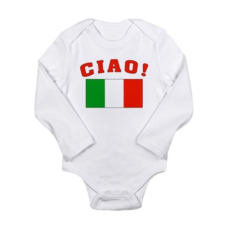 Ciao Italia Italy flag Long Sleeve Infant Bodysuit
