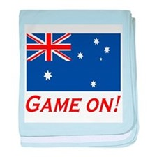 Australian Pride Game On baby blanket