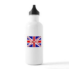 No Fear Union Jack Water Bottle