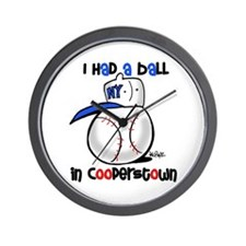 I had a Ball in Cooperstown Wall Clock
