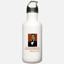 Abe Lincoln FREEDOM Quote Water Bottle