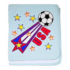 USA Soccer Team baby blanket