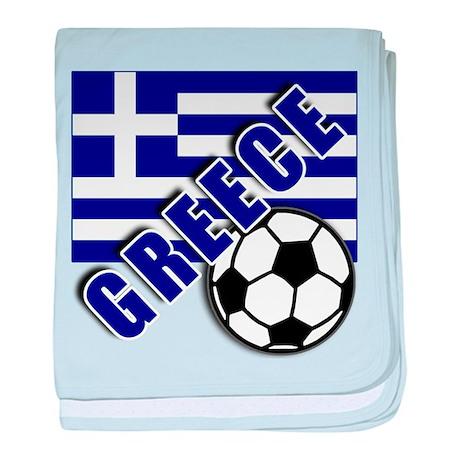 World Soccer GREECE baby blanket