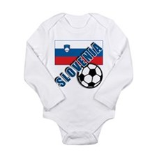 Cute Slovenia soccer Long Sleeve Infant Bodysuit