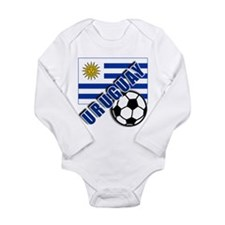URUGUAY Soccer Team Long Sleeve Infant Bodysuit