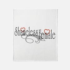 Shameless Female Throw Blanket