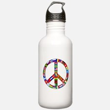 Peace Sign Made of Fla Water Bottle