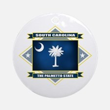 South Carolina Flag Ornament (Round)