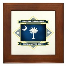 South Carolina Flag Framed Tile