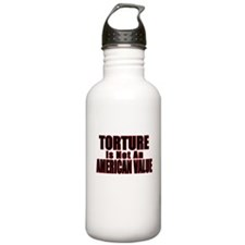 Torture Not an American Value Water Bottle