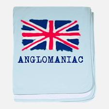 Anglomaniac Union Jack baby blanket
