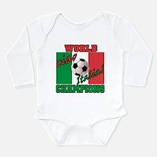 Funny Italian soccer Long Sleeve Infant Bodysuit