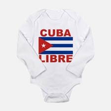 Cuba Libre Free Cuba Long Sleeve Infant Bodysuit
