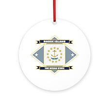 Rhode Island Flag Ornament (Round)