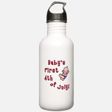 Baby's First 4th of July Water Bottle