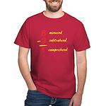 Subtrahend/Comprehend - Dark T-Shirt
